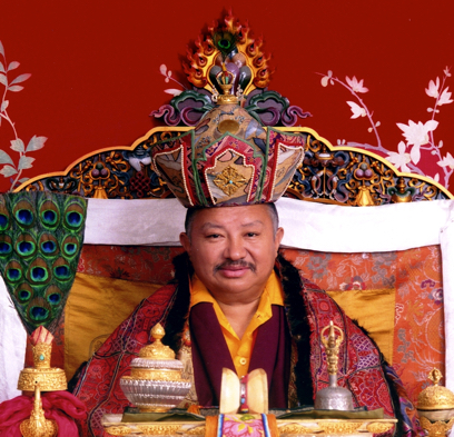 Chokling Rinpoche on throne