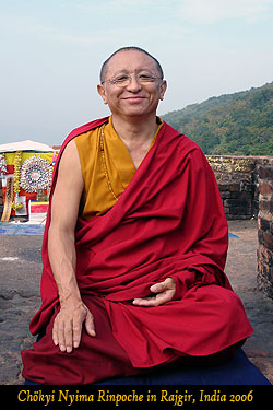 Chökyi Nyima Rinpoche in Rajgir, India 2006
